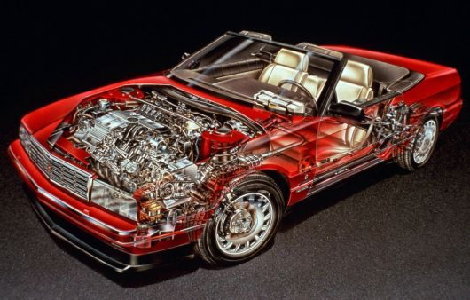 cadillac alante cut away 93