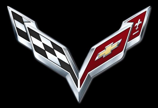 chevrolet corvette stingray flags emblem 14