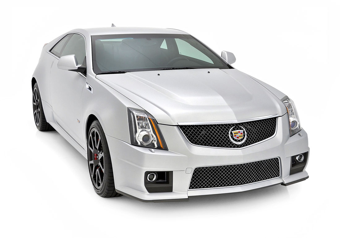 Cadillac cts v coupe silver frost 1 13