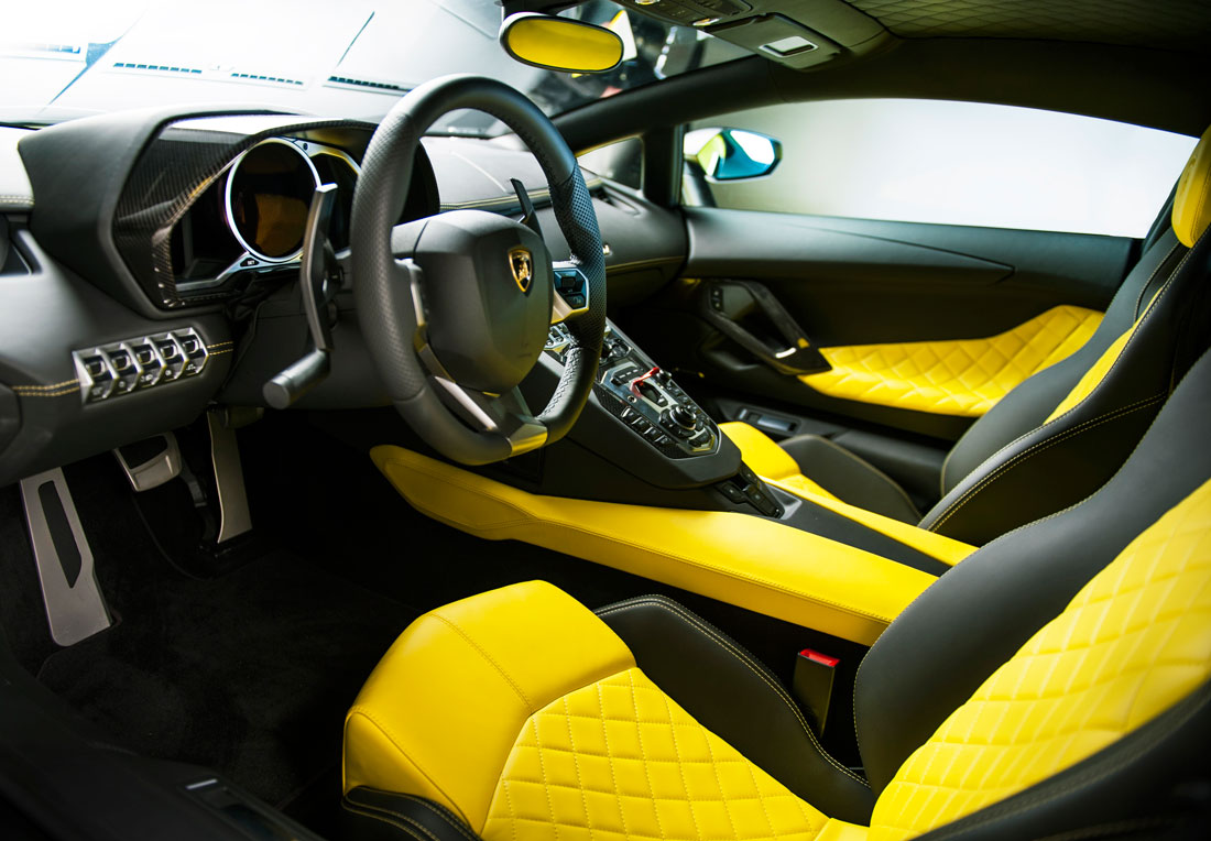 Lamborghini Aventador Dragon Edition Interior