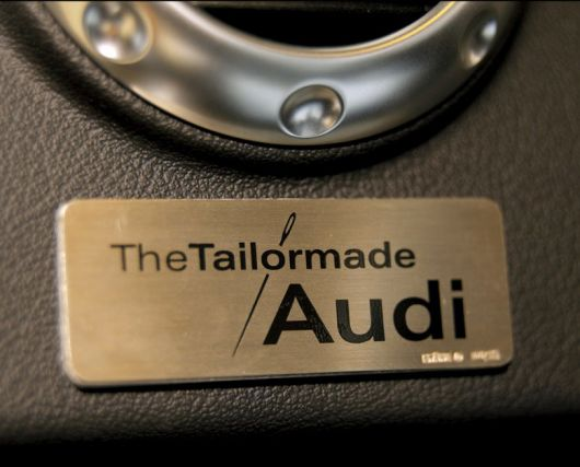 the tailormade audi badge
