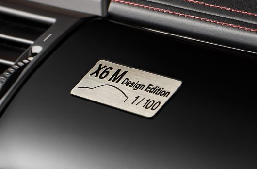 bmw x6 m design edition plaque 13