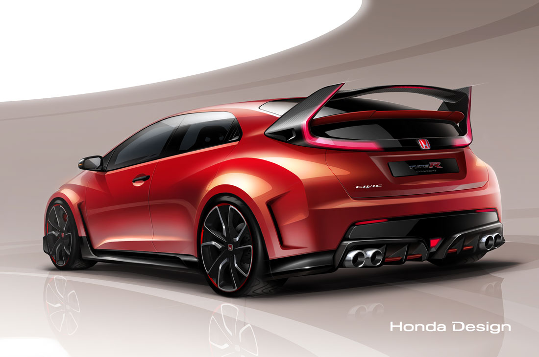 honda civic type r concept 2014 cartype. Black Bedroom Furniture Sets. Home Design Ideas