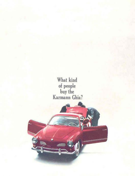 vw karmann ghia brochure 67