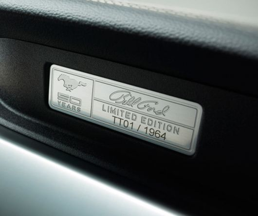 ford mustang 50 year limired edition plaque in 15