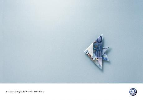 vw passat bluemotion ad