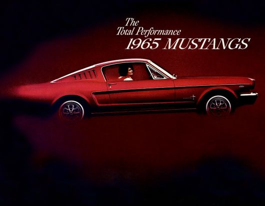 1965 mustang brochure cover 2500w