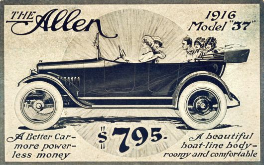 allen model 37 5passenger touring car ad 16