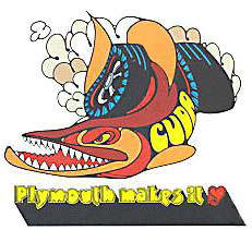 plymouth baracuda decal