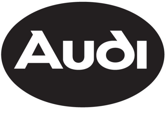 audi oval logo black