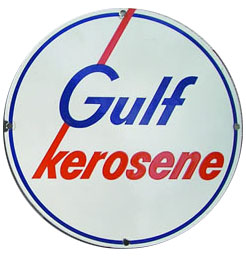 gulf kerosene sign