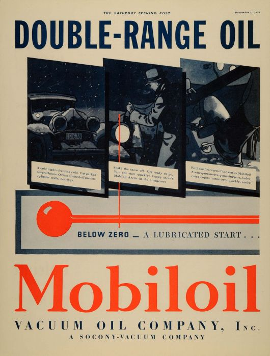 mobiloil double range oil ad 32