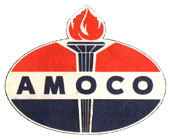 amoco first torch oval logo