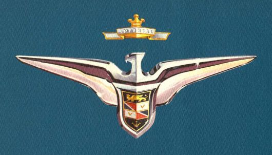 chrysler imperial emblem 56