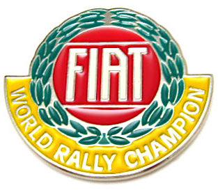 fiat 131 abarth 124 spider world rally emblem