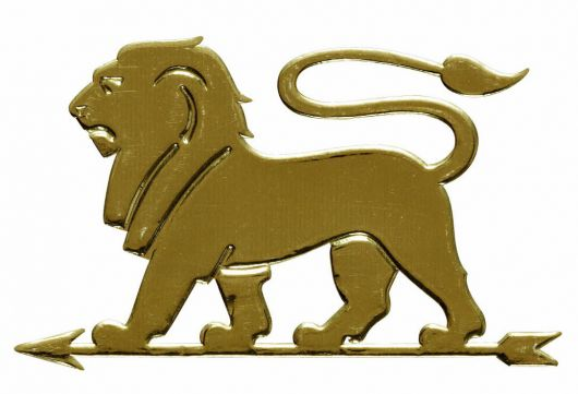 peugeot lion plaque