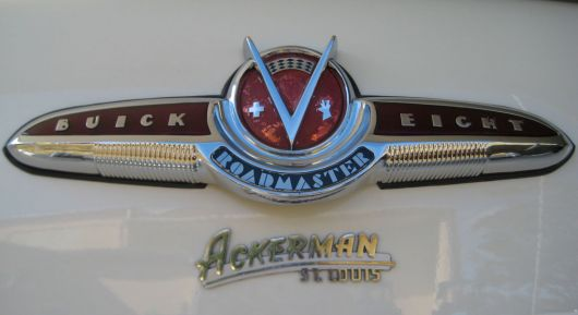 buick v eight roadmaster emblem skylark conv s 53