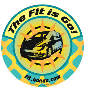 honda fit sticker