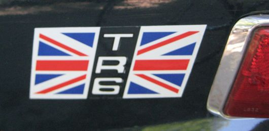 triumph tr6 side decal