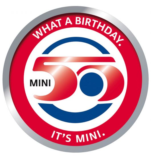 mini 50 years logo