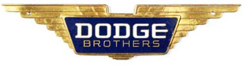 dodge brothers spread wing radiator grille badge