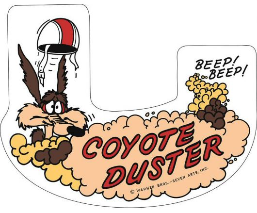 plymouth coyote duster road runner 383 air cleaner decal 69