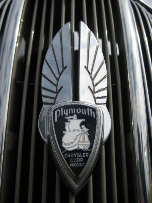 plymouth p2 deluxe grill emblem 1 36