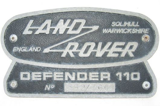 land rover defender emblem