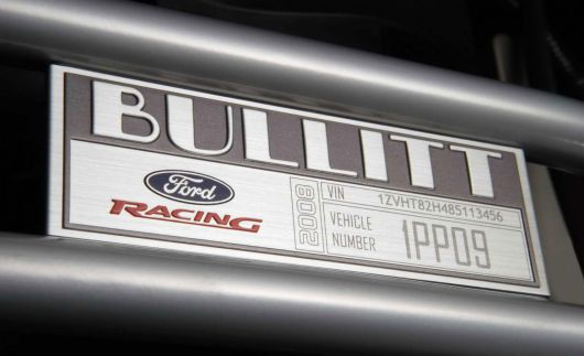 ford mustang bullitt plaque 08