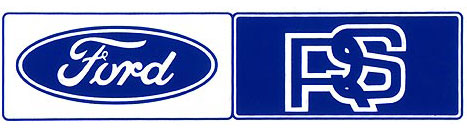 ford rs rear window sticker