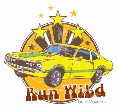 ford run wild be a meverick logo