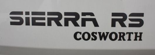 ford sierra rs cosworth emblem 86