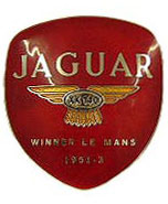 jaguar xk140 boot badge