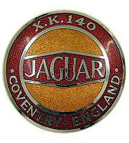 jaguar xk140 grille badge