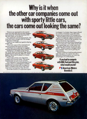Amc Gremlin X Ad on 1971 jeep wagoneer