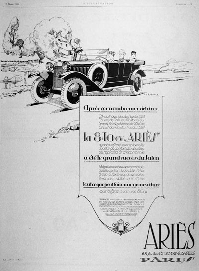 aries open sedan ad 25