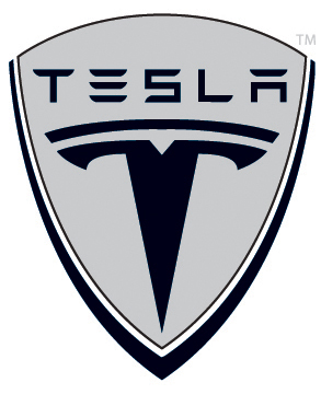 tesla logo shield