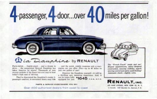 renault dauphine ad 58