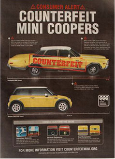 mini counterfeit