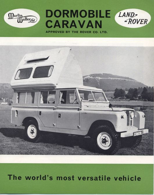 dormobile brochure cover