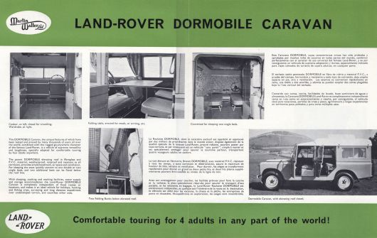 dormobile brochure spread