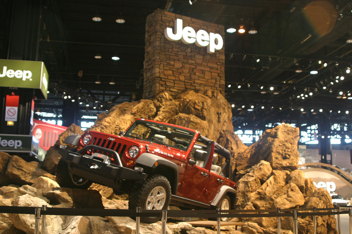 Outdoor Exhibition Booth Design : Jeep exhibits cartype