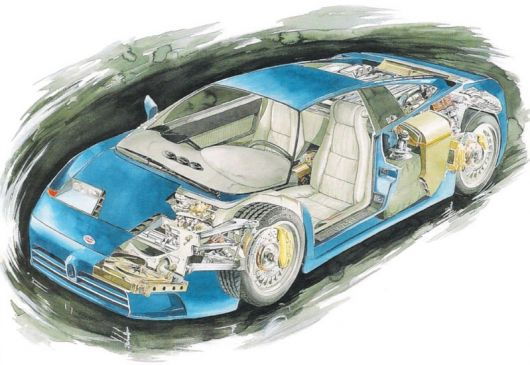 bugatti eb110 cut away 91