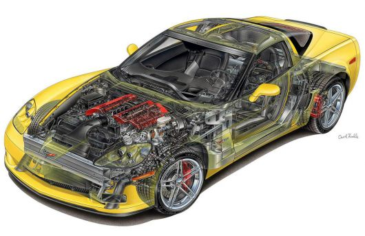 chevrolet corvette z06 cut away 05