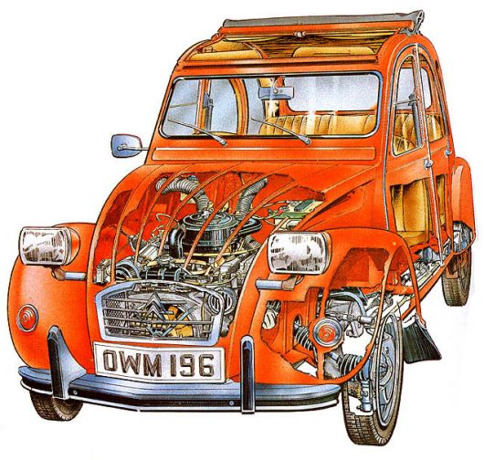 citroen 2cv6 club cut away 89