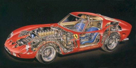 ferrari 250 gto cut away 62