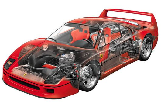 ferrari f40 cut away 86