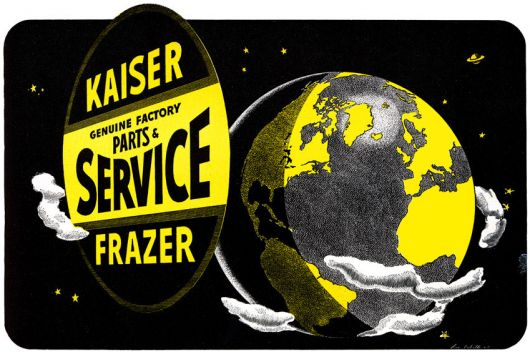 kaiser frazer service covers the globe card 48