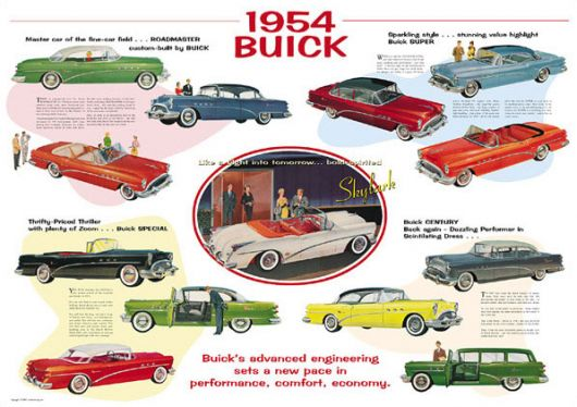 buick 1954 poster