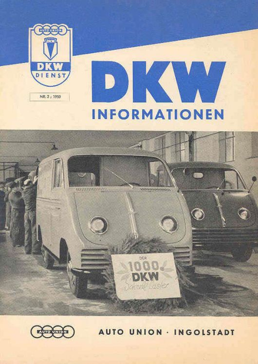 dkw auto union van pickup 50